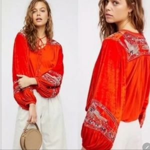 Free People Hearts Aflame Top - XS